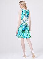 Maggy London - Robe ajustée et évasée à motif fleurs, Bleu, hi-res