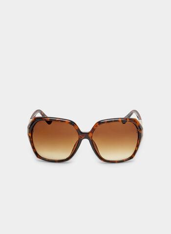 Gradient Tort Sunglasses, Brown, hi-res