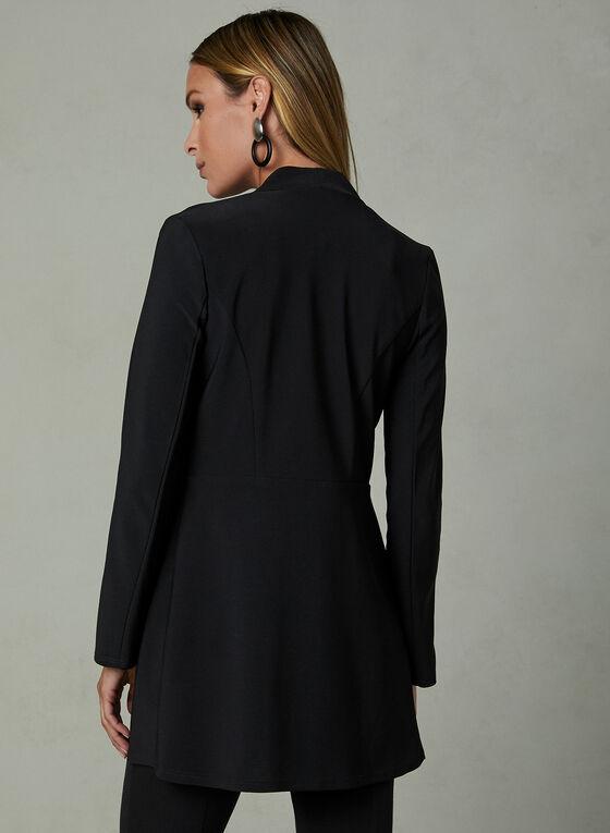Cardigan ouvert style redingote , Noir, hi-res