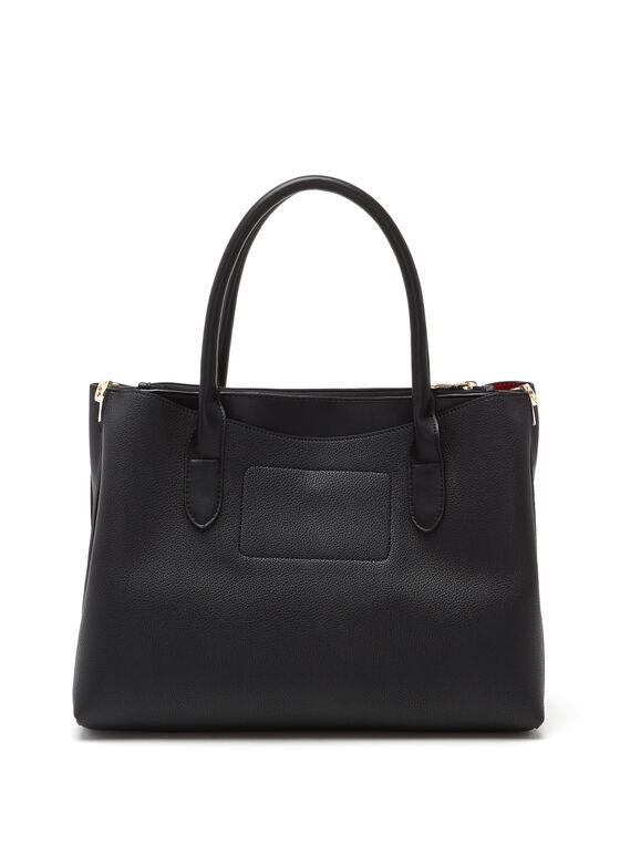 Céline Dion – Faux-Leather Satchel, Black, hi-res