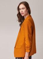 Open Front Linen Blazer, Yellow