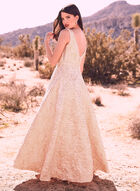 Cachet - Embellished Empire Waist Gown, Off White, hi-res