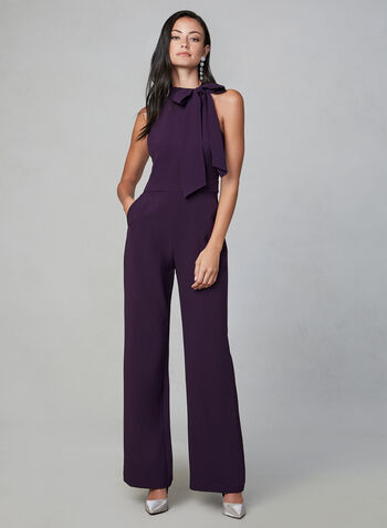 Vince Camuto - Halter Neck Jumpsuit, Purple,  fall winter 2019, jumpsuit, sleeveless, halter, vince camuto