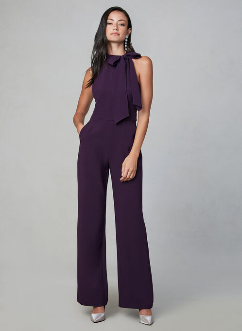 Vince Camuto - Halter Neck Jumpsuit, Purple, hi-res