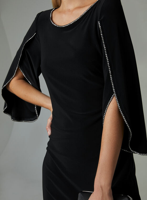 Joseph Ribkoff - Crystal Trim Sheath Dress, Black