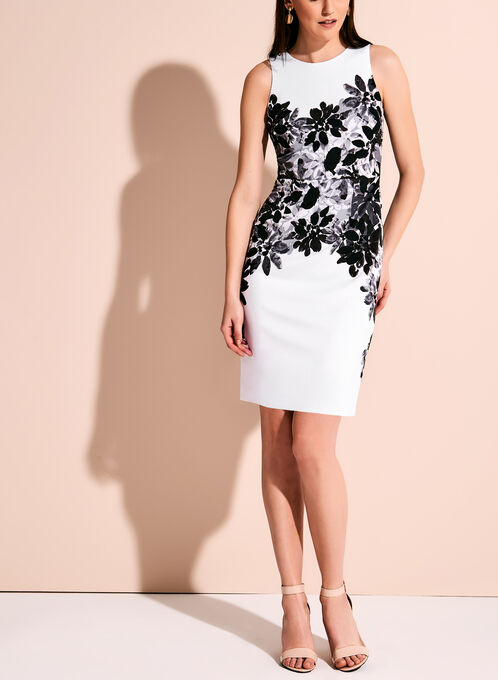 Maggy London - Floral Sheath Dress, Black, hi-res