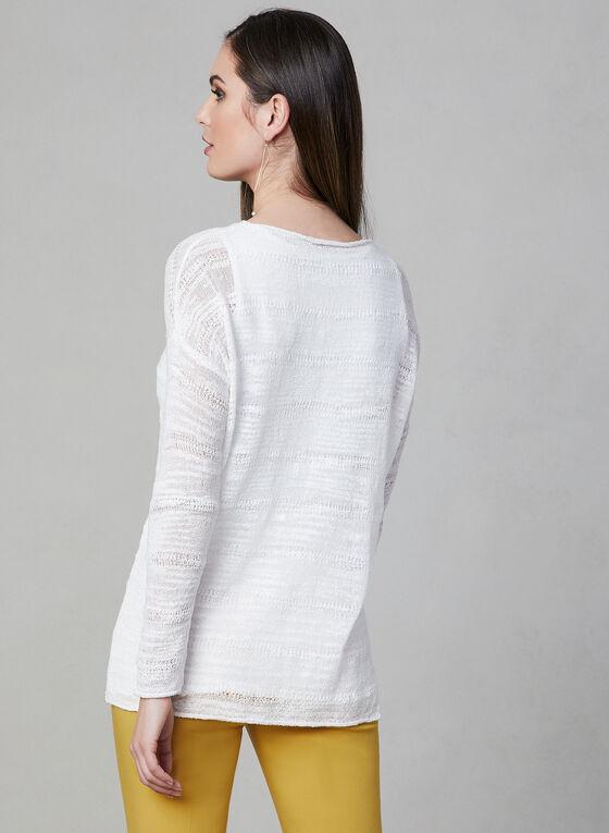 Drop Shoulder Knit Top, Off White