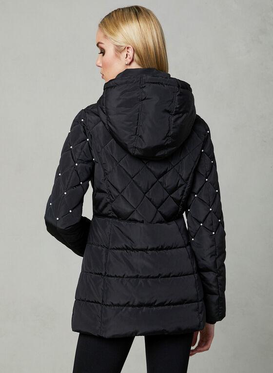 Karl Lagerfeld Paris - Manteau matelassé à perles, Noir, hi-res