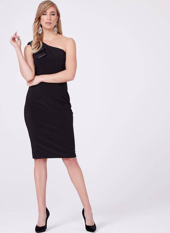 BA Nites - One Shoulder Sheath Dress, Black, hi-res