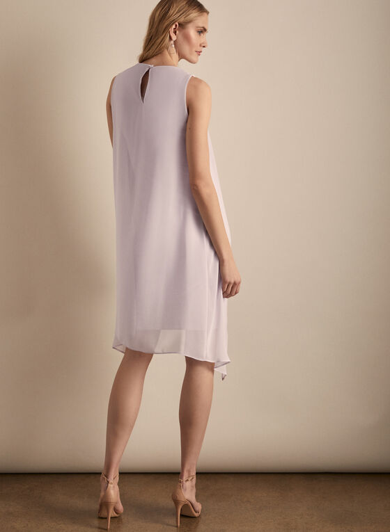 Joseph Ribkoff - Layered Chiffon Dress, Purple