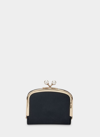 Pearl Embellished Wallet, Black, hi-res,  wallet, metallic, accessories, pearls, holiday, fall 2019, winter 2019