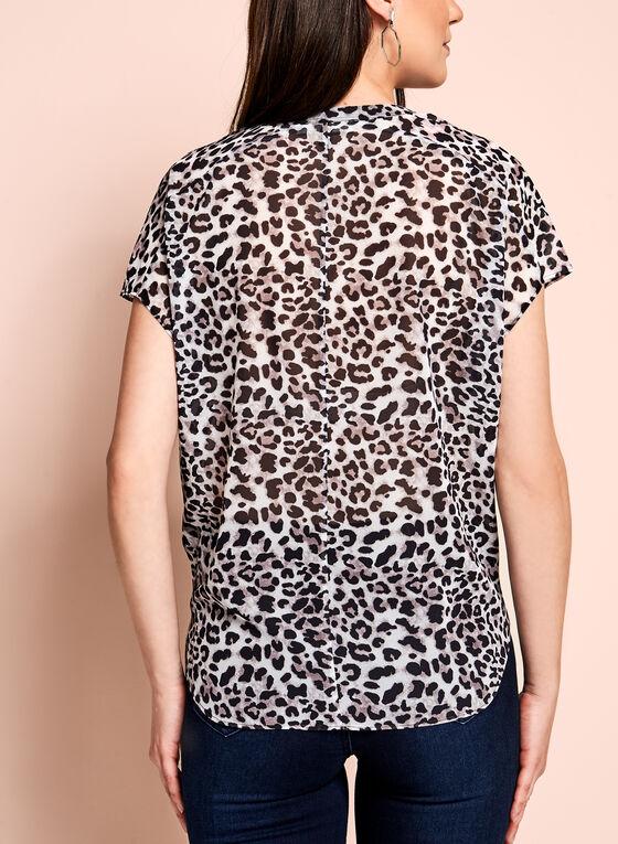 Blouse diaphane léopard, Blanc cassé, hi-res
