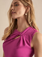 Donna Ricco - Sleeveless Twisted Top Dress, Pink