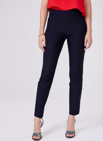 Conrad C - Slim Leg Pull-On Pants, Blue, hi-res