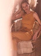 Linen Pull-On Pants, Yellow