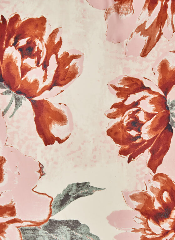 Vince Camuto – Square Floral Print Scarf, Brown, hi-res