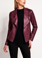 Vex - Blazer ouvert aspect cuir et détails zippés, Rouge, hi-res