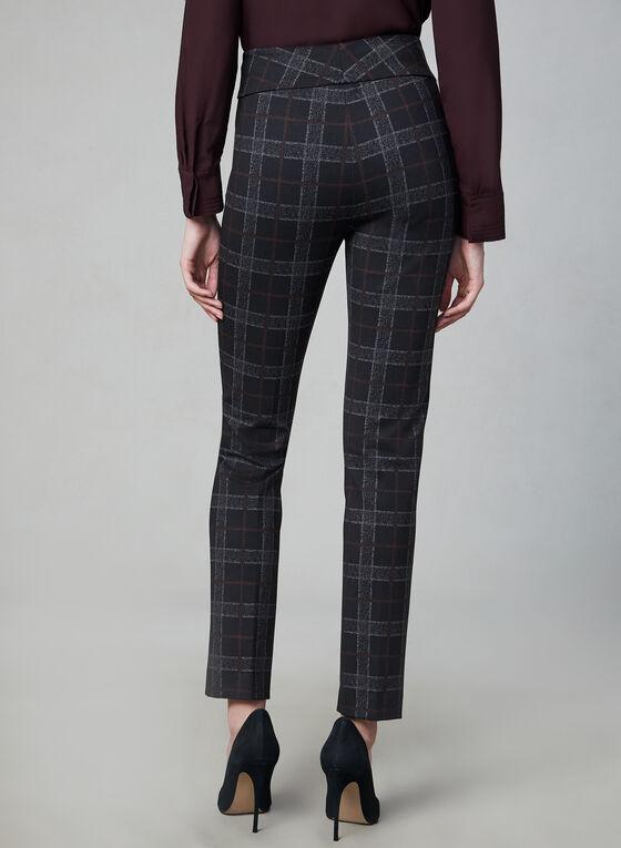 Pantalon Madison à motif tartan, Noir