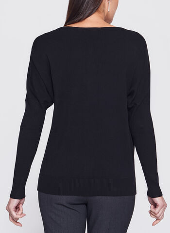 Vex - Beaded Dolman Sleeve Sweater, Black, hi-res