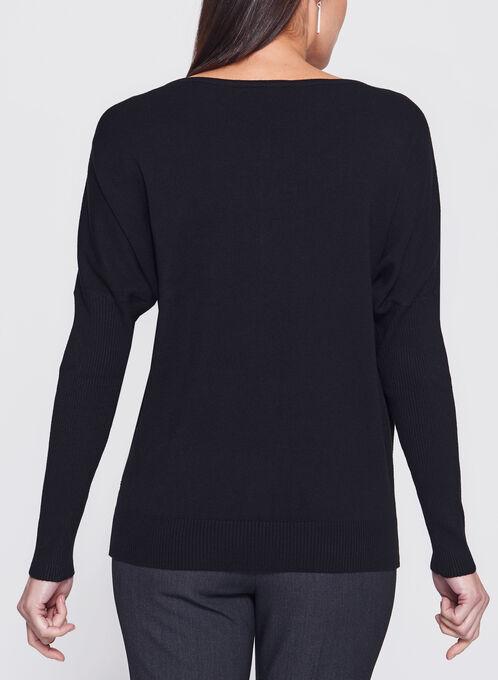 Vex - Beaded Dolman Sleeve Sweater, Black, hi-res