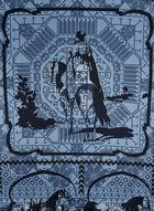 Foulard carré à imprimé d'inspiration équestre, Bleu, hi-res