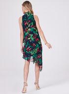Maggy London - Floral Print Asymmetric Dress, Blue, hi-res