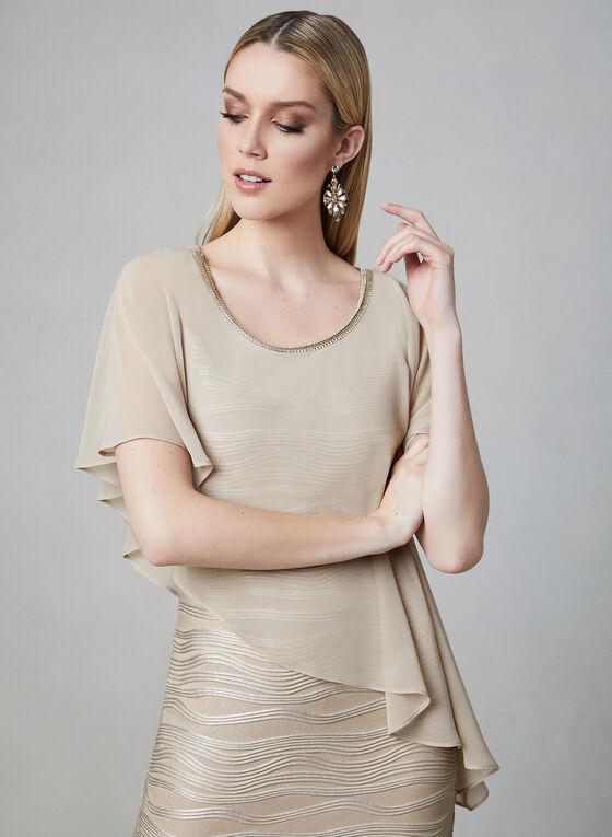 Frank Lyman - Poncho Dress, Brown, hi-res