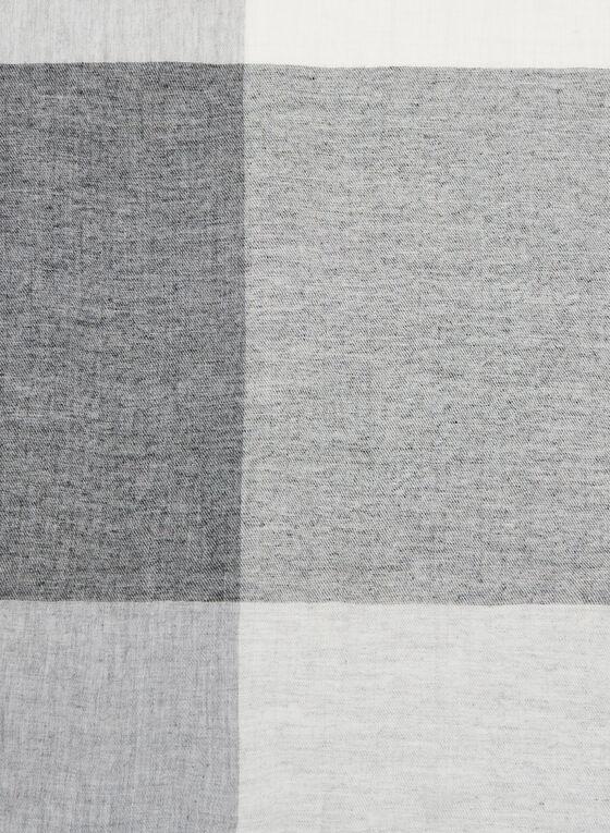 Foulard léger à blocs de couleurs, Noir