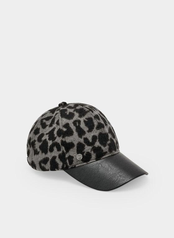 Vince Camuto - Casquette à motif léopard, Gris, hi-res