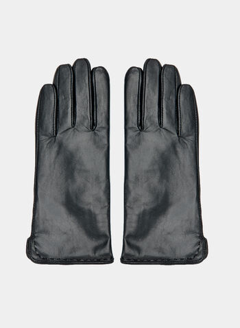 Gants en cuir , Noir, hi-res