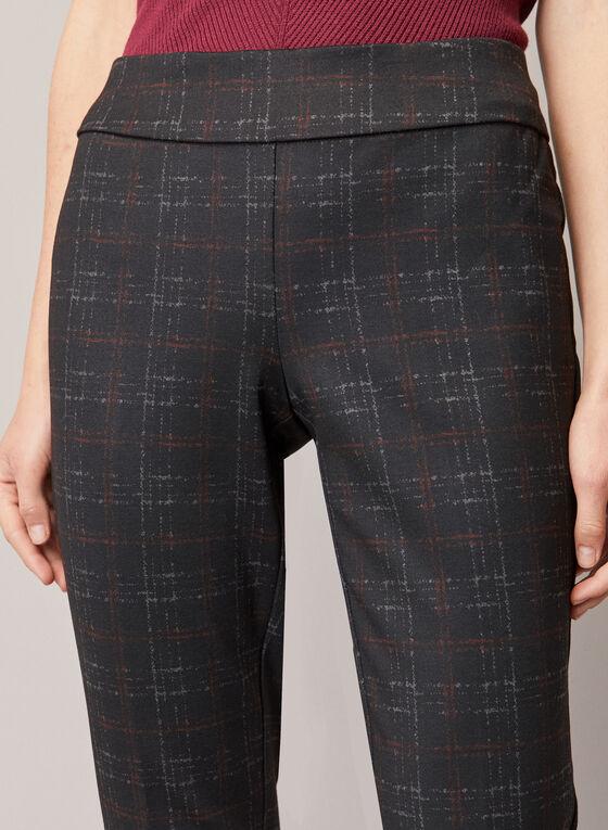 Pantalon Madison à motif de carreaux, Noir