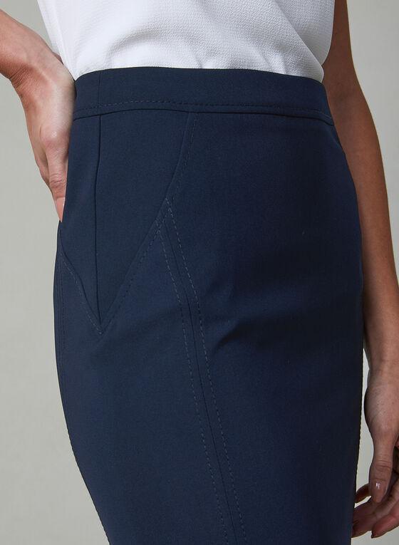 Back Slit Pencil Skirt, Blue, hi-res