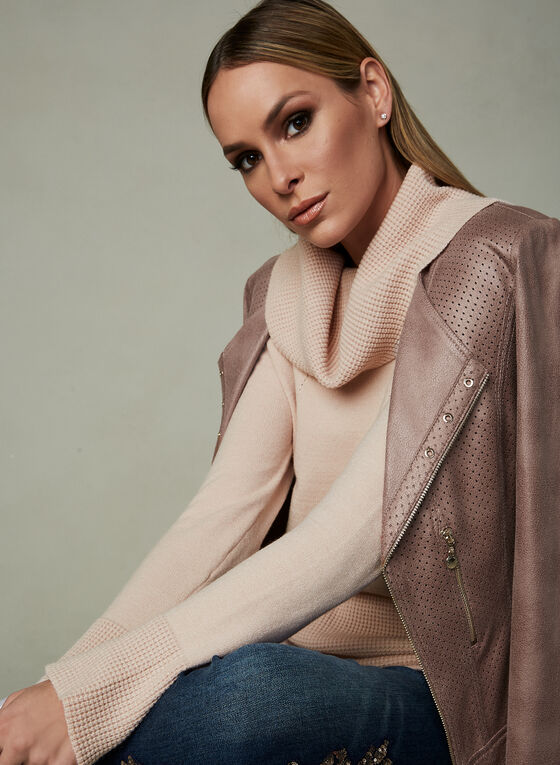 Elena Wang - Cowl Neck Sweater, Pink, hi-res