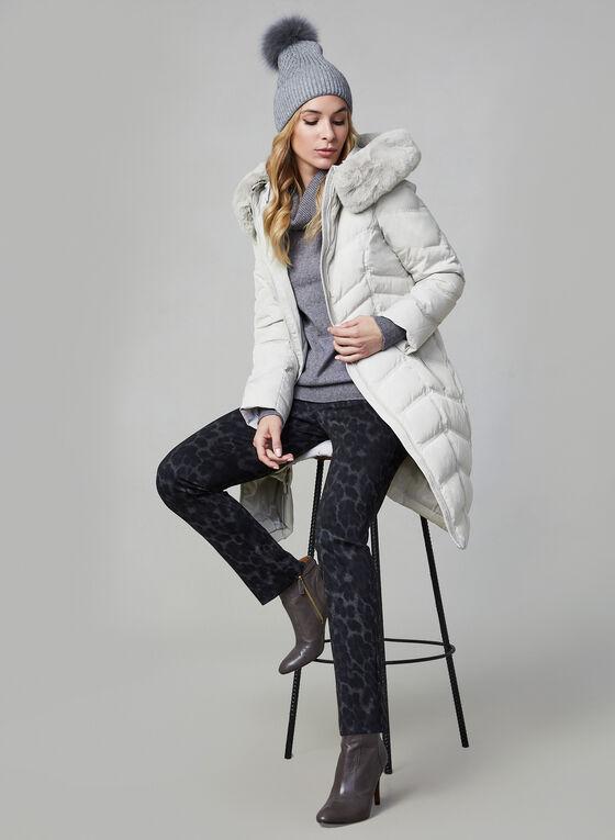 Karl Lagerfeld Paris - Manteau matelassé à fausse fourrure, Gris