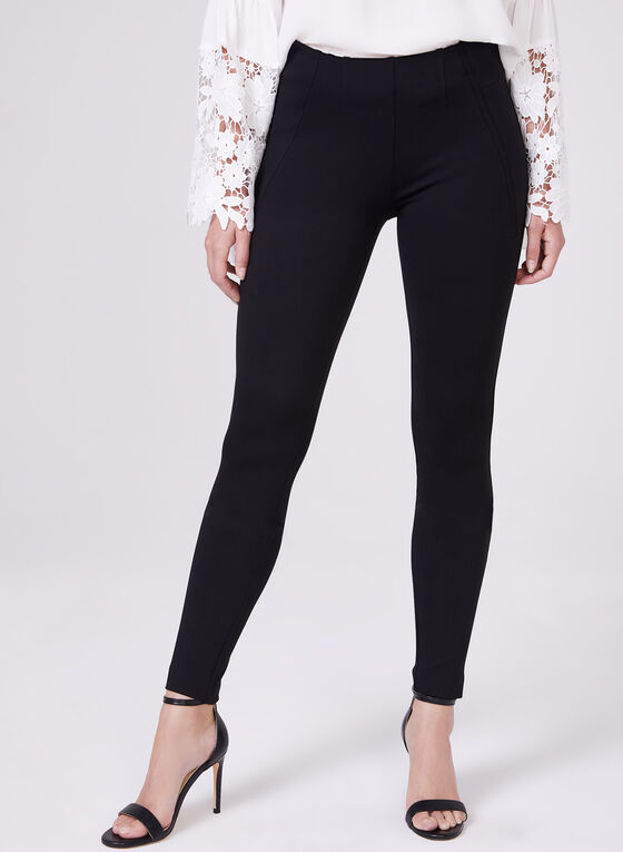 Kayla Pull-On Leggings, Black