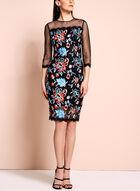 Jax Floral Embroidered Mesh Dress, Multi, hi-res