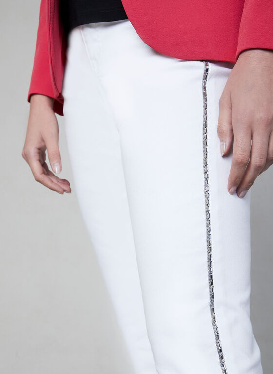 Capri à détails cristaux, Blanc