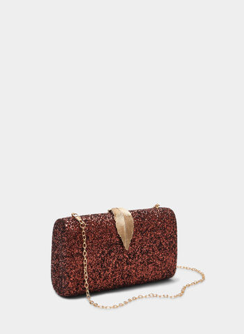 Glitter Box Clutch, Brown,  clutch, glitter, glitter clutch, box clutch, metallic, fall 2019, winter 2019