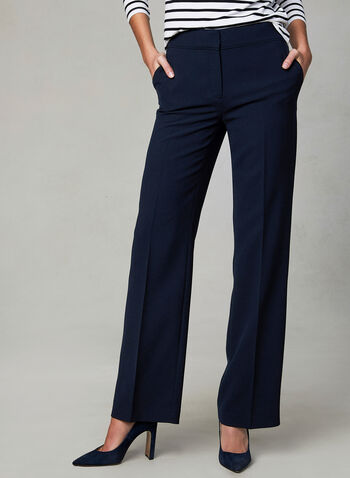 Soho Fit Wide Leg Pants, Blue, hi-res