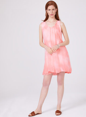 Cartise – Back Capelet Overlay Lace Dress, Pink, hi-res