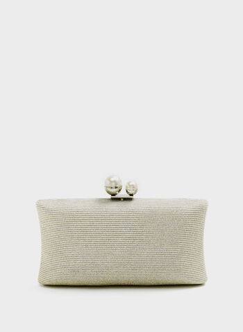 Glitter Evening Clutch , Silver, hi-res
