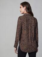 Leopard Print Blouse, Brown, hi-res