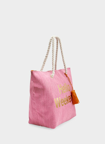 Tote Bag With Tassel Detail, Pink, hi-res