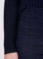 Jacquard Pull-On Pants, Blue, hi-res