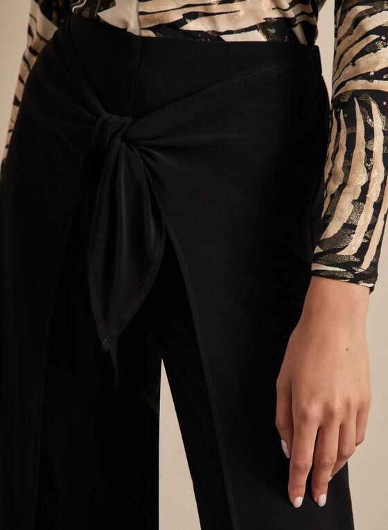 Joseph Ribkoff - Front Slit Wide Leg Pants, Black