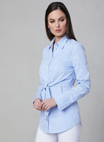 Frank Lyman - Button Down Blouse, Blue, hi-res
