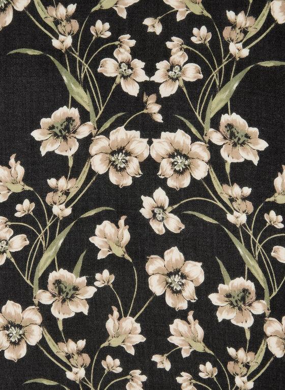 Foulard à imprimé floral, Gris, hi-res