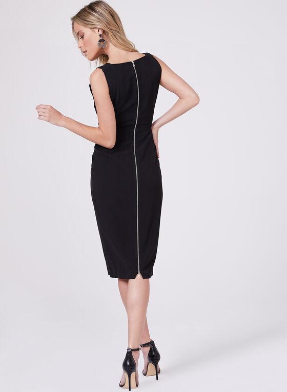 Maggy London – Square Neck Sheath Dress, Black, hi-res