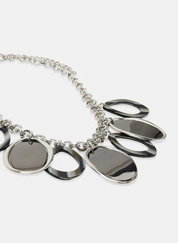 Teardrop Pendant Necklace, Grey, hi-res