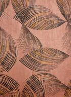 Foulard oblong à motif abstrait, Orange, hi-res